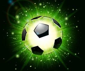 Shiny football background vector material