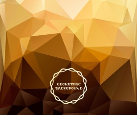 Shiny geometric shapes embossment background vector 03