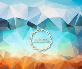 Shiny geometric shapes embossment background vector 04