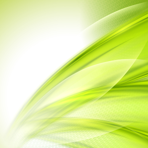 Shiny Green Wave Abstract Background Vector Free Download