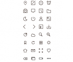 Simple cute outline web icons