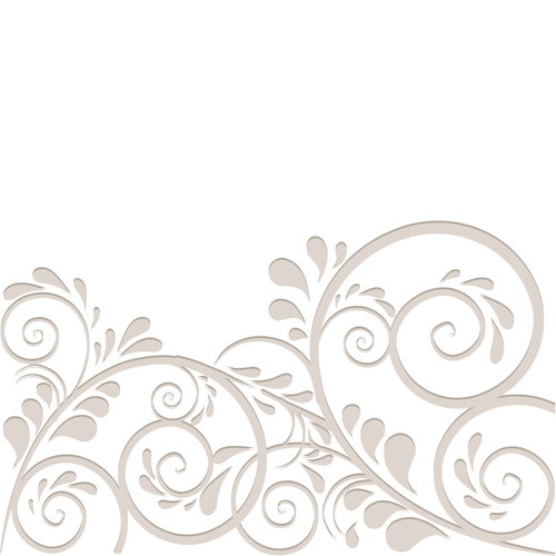 Simple floral vector background 04 - Vector Background, Vector ...