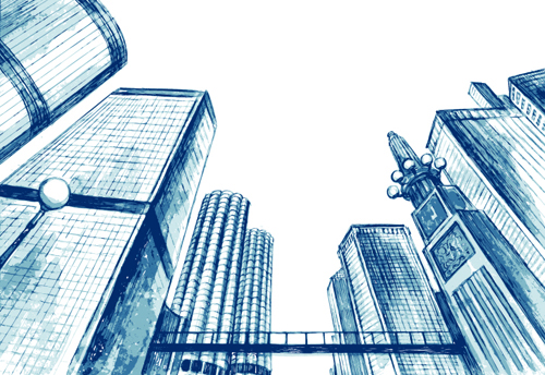 Sketches of Buildings Images Sketch Urban Building Vector
