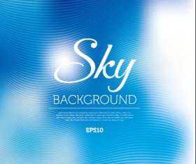 Sky abstract blurred background vector