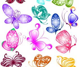 Sorts of butterflies clip art vector material 01