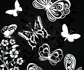 Sorts of butterflies clip art vector material 02