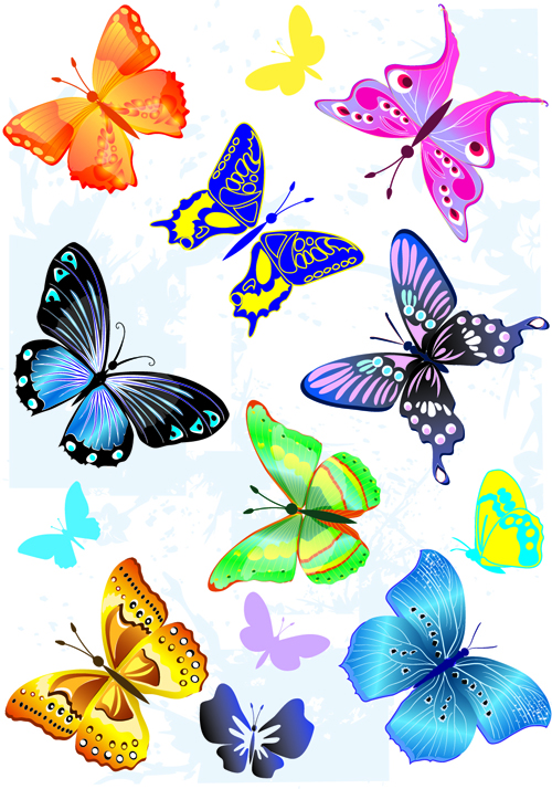 sorts of butterflies clip art vector material 04 free download rh freedesignfile com free download clipart gallery