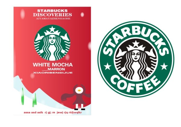 Starbucks Poster With Label Vector Over Millions Vectors