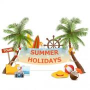 Link toSummer holiday advertising banner vector
