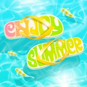 Link toSummer sandals design vector background 01