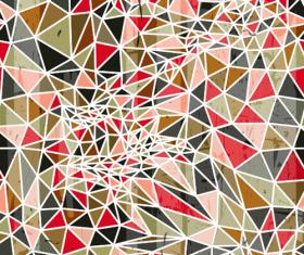Triangle portfolio with grunge background vector