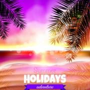 Link toTropical summer holidays vector background art 01