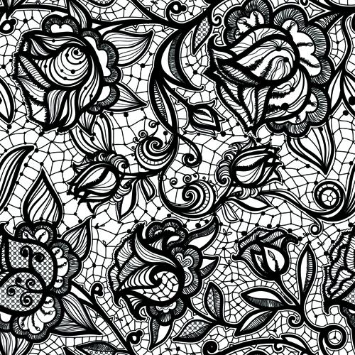 Vintage baroque floral golden ornament vector stock vector image - Vector Black Lace Creative Background Graphics 01 Vector