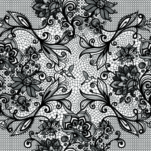 Vector Black Lace Creative Background Graphics 02
