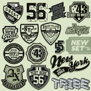 Link toVintage t-shirt labels creative vector material 01