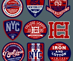 Vintage T-shirt labels creative vector material 05