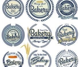 Vintage bakery vector labels