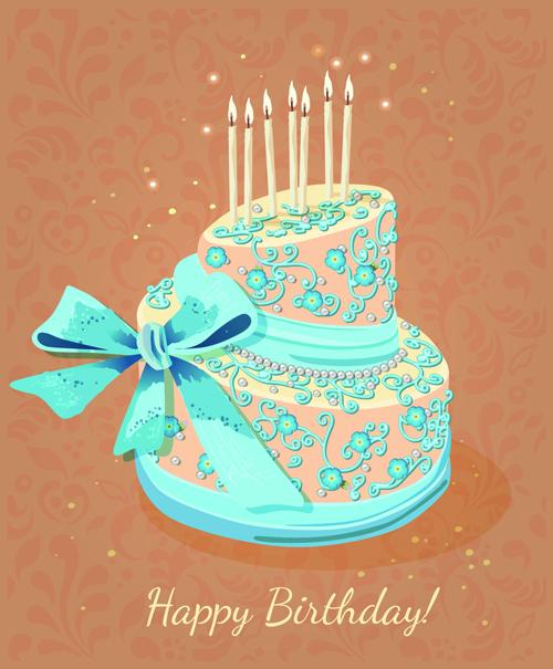 Vintage Birthday Cake Images : Pics For > Vintage Birthday Cake Illustration