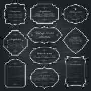 Link toVintage frame dark style vector 02