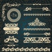 Link toVintage frame with border and ornaments design vectors