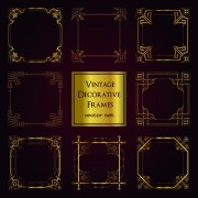 Link toVintage golden decorative frames vector