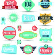Link toVintage sale badges and label with stickers vector material