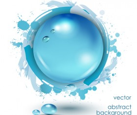 Water drop with grunge background vector