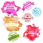 Link toWatercolor premium quality labels vector