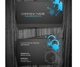 Watercolor splash business cards vector graphic 01