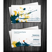 Link toWatercolor splash business cards vector graphic 02
