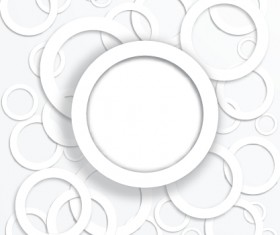 White circle background design vector 01