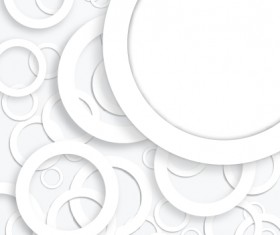 White circle background design vector 02