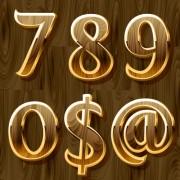 Link toWooden golden numeric graphic vector 02