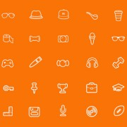 Yellow style life icons psd