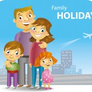 Link toFamily holiday travel background 02