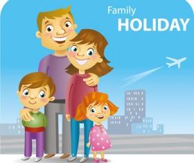 family holiday travel background 02