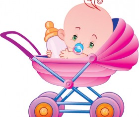 lovely cartoon baby design vector 02