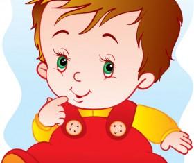 lovely cartoon baby design vector 03