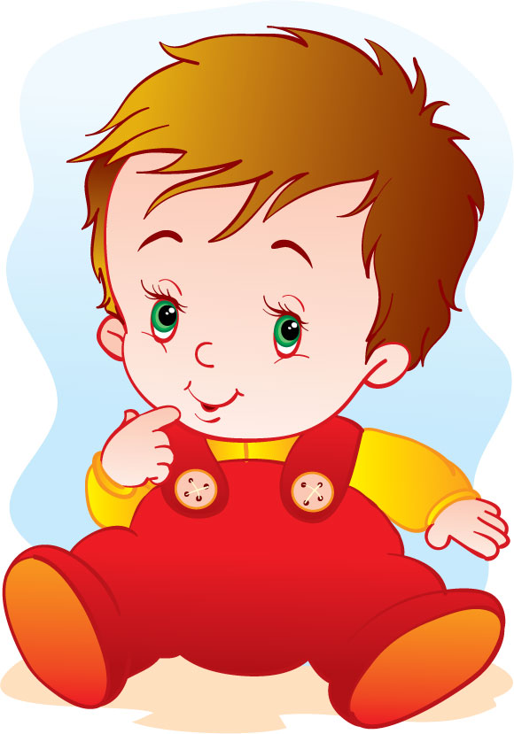 lovely cartoon baby design vector 03
