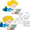 lovely children design elements vectors 01