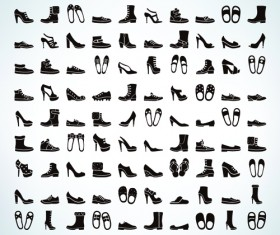 100 Kind shoes vector icons