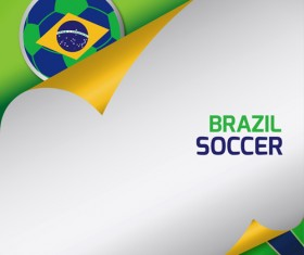 2014 brazil world football tournament vector background 01