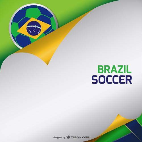 2014 brazil world football tournament vector background 01