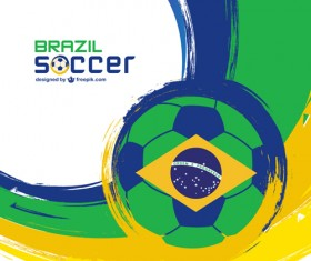 2014 brazil world football tournament vector background 02