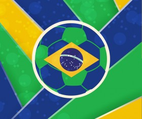 2014 brazil world football tournament vector background 03