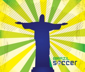 2014 brazil world football tournament vector background 04