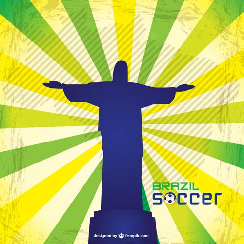 2014 brazil world football tournament vector background 04