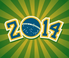 2014 brazil world football tournament vector background 05