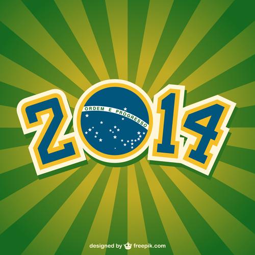2014 brazil world football tournament vector background 05