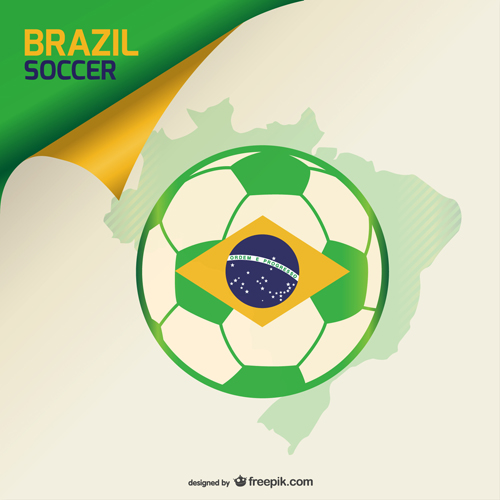 2014 brazil world football tournament vector background 06